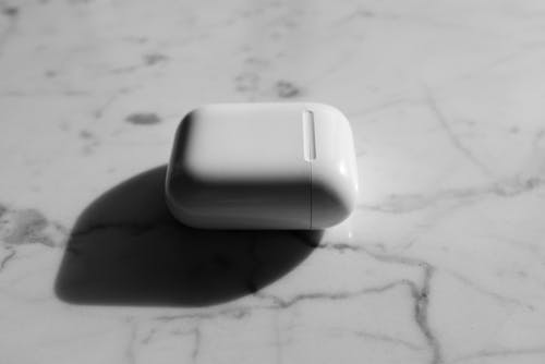 Monochrome Photo of Airpods Casing