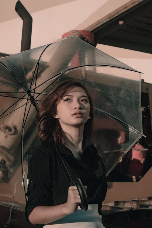 Photo of Woman Holding Umbrella