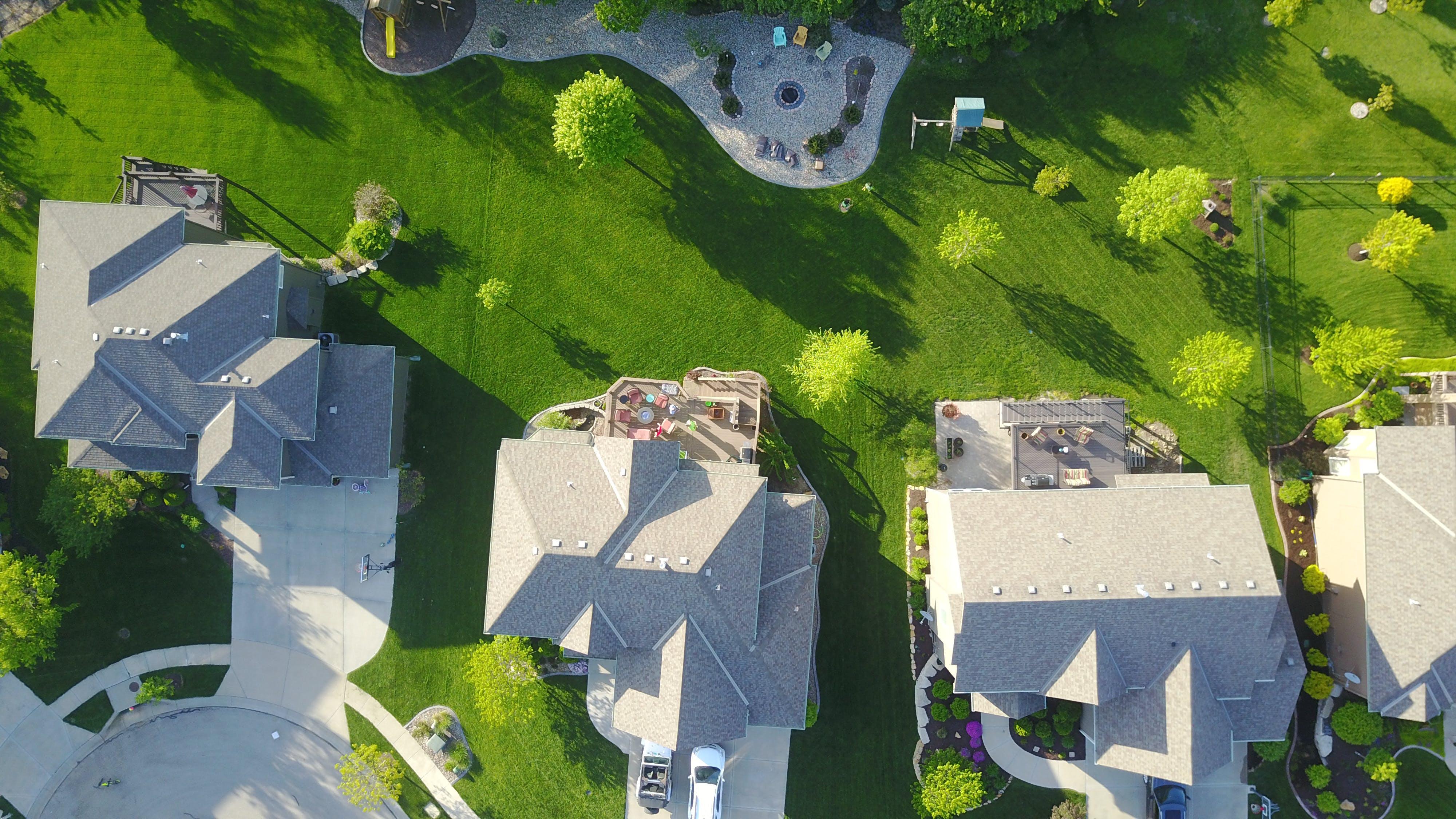 Free stock photo of neighborhood, aerial shot