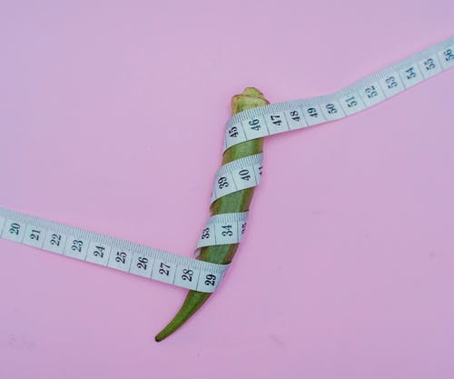 Pink and White Tape Measure