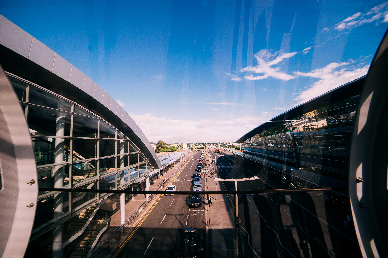 Free stock photo of street, airport, blue sky, dublin