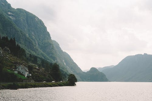 Body Of Water By The Mountains
