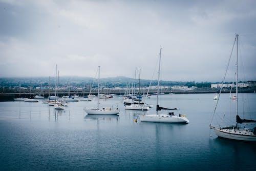 balıkçı teknesi, tekne, tekne güvertesi içeren Ücretsiz stok fotoğraf