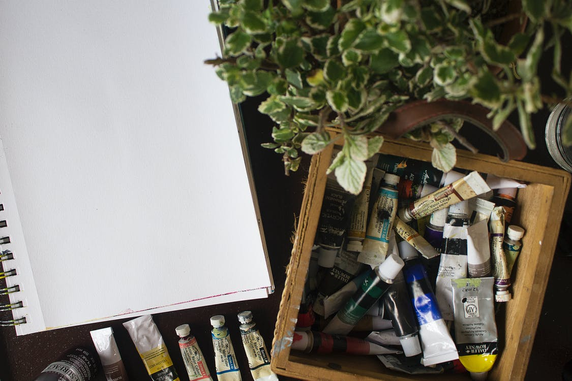 Paint Tubes In A Container