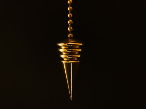 Free stock photo of chain, gold, cone, black background