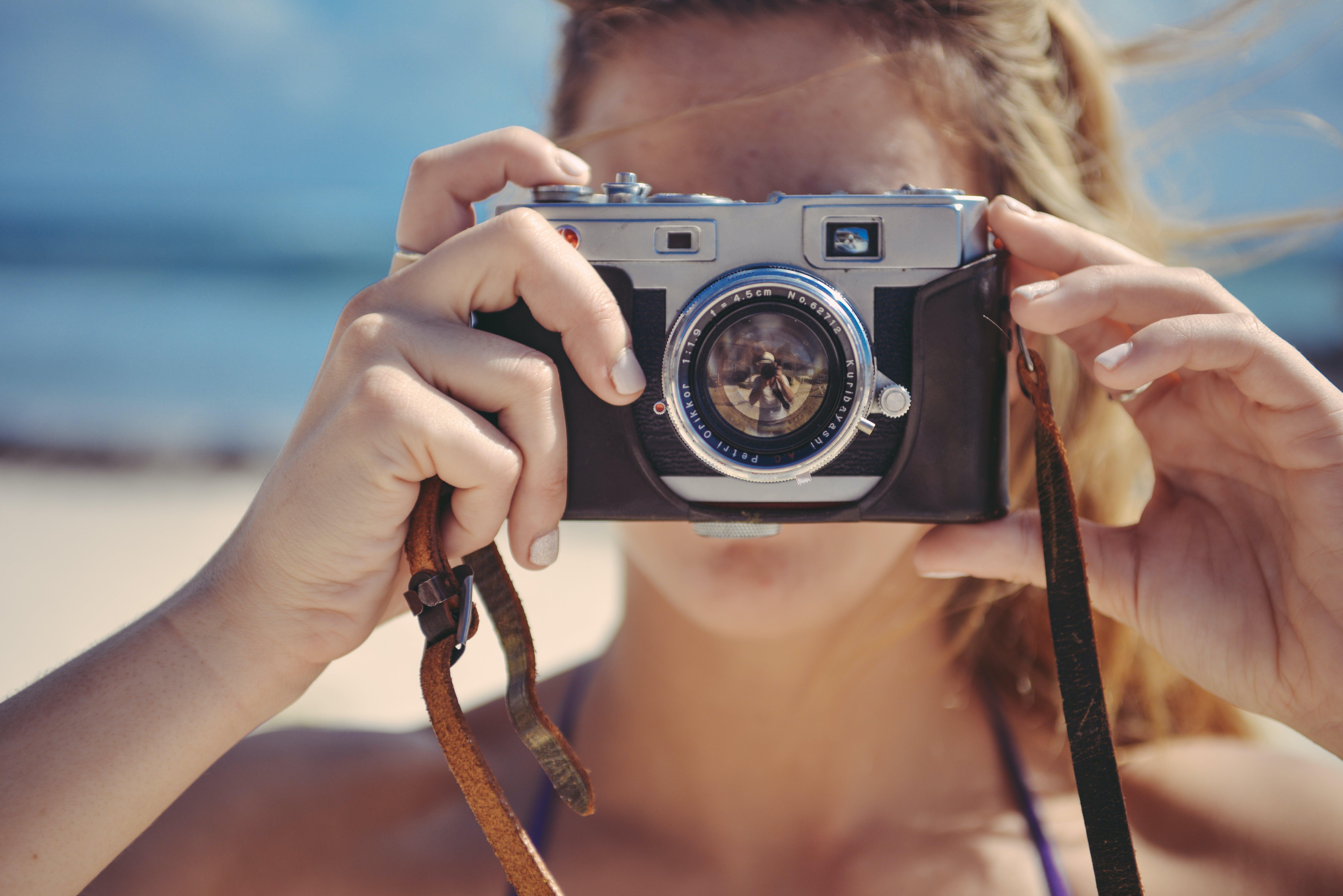 Free stock photo of camera, girl, photographer, photography