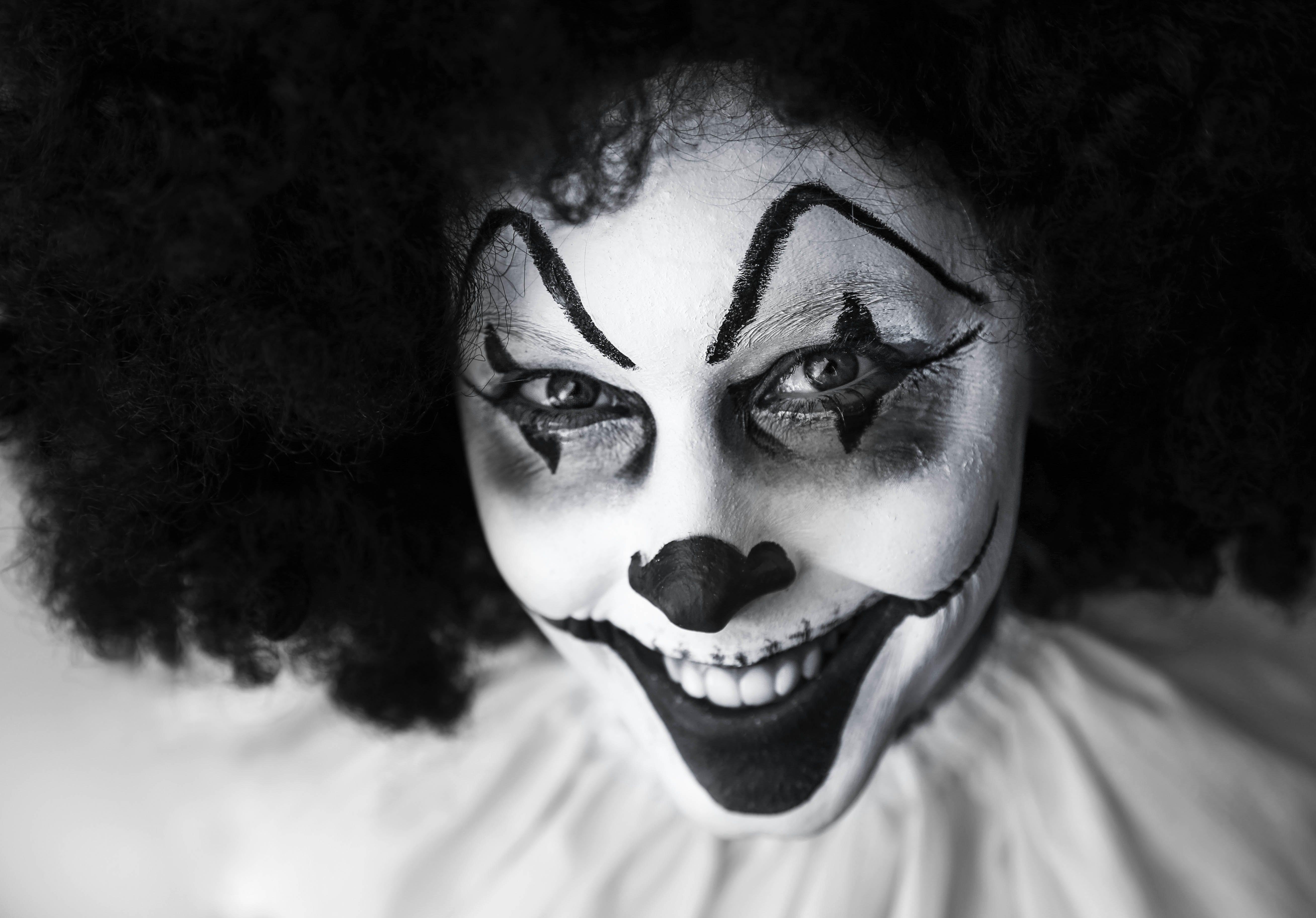Man in Clown Costume