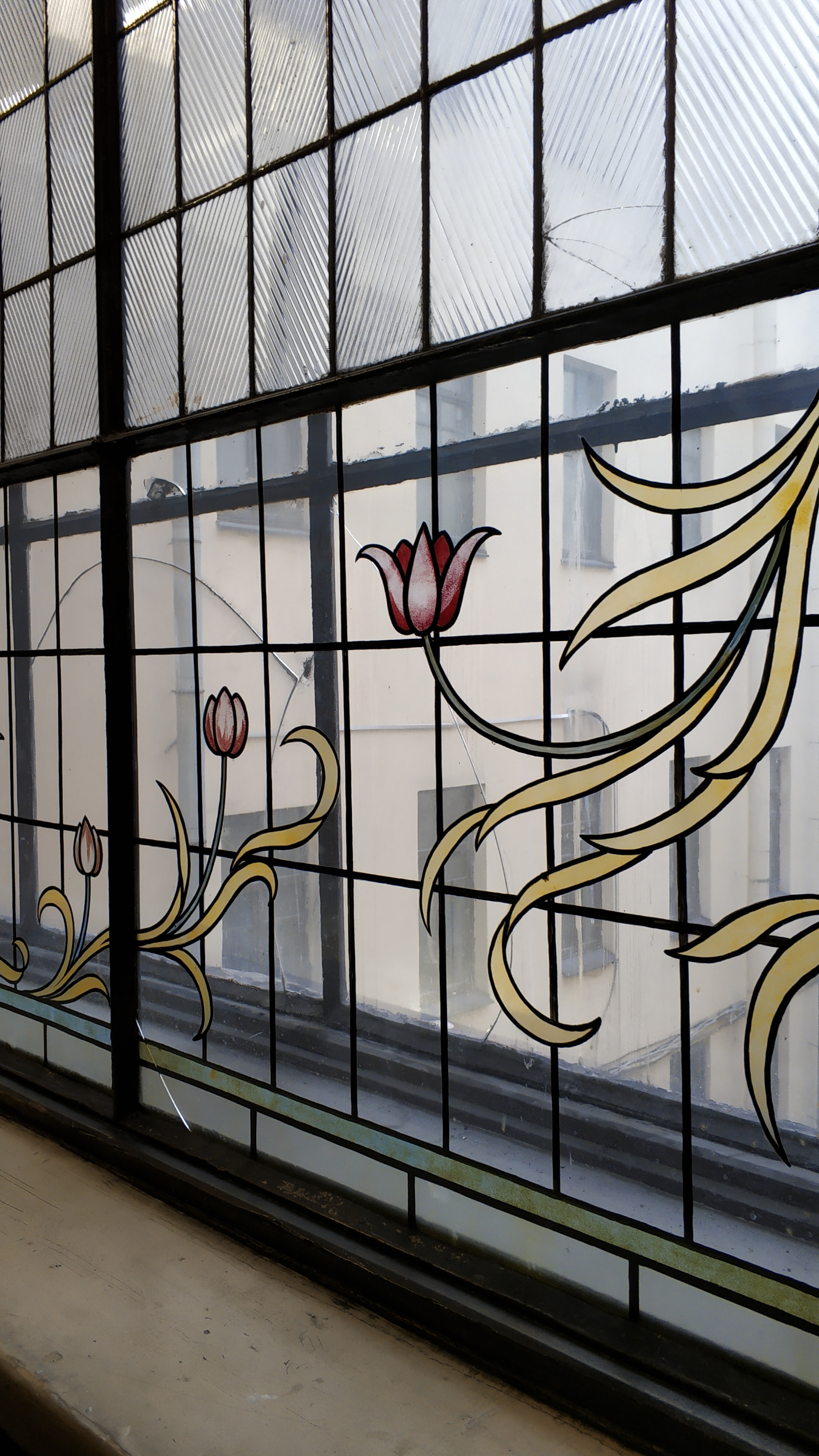 Window With Black Steel Frame Free Stock Photo