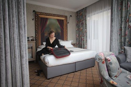 Základová fotografie zdarma na téma balení, design interiéru, hotel, ložnice