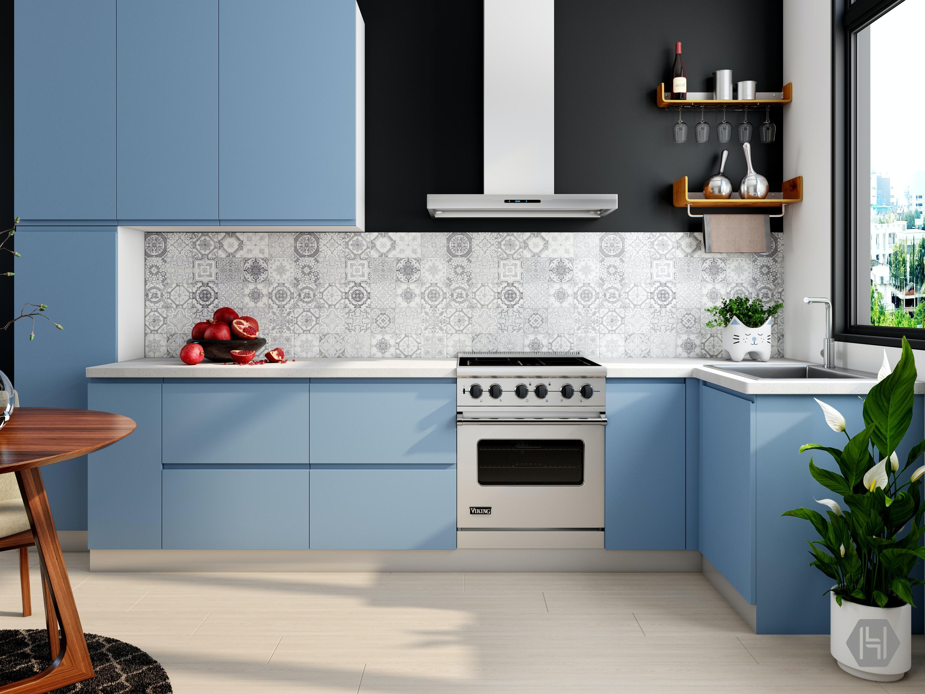 modular kitchen design · free stock photo