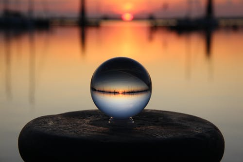 Foto stok gratis Fajar, laut, Lensball