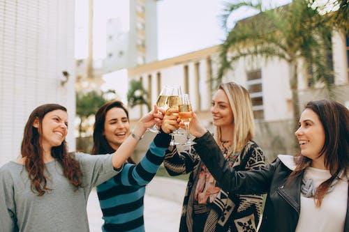 Women Having A Toast