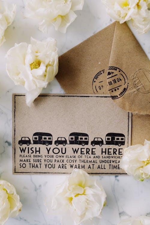 Gratis stockfoto met bericht, bloemen, creditcard