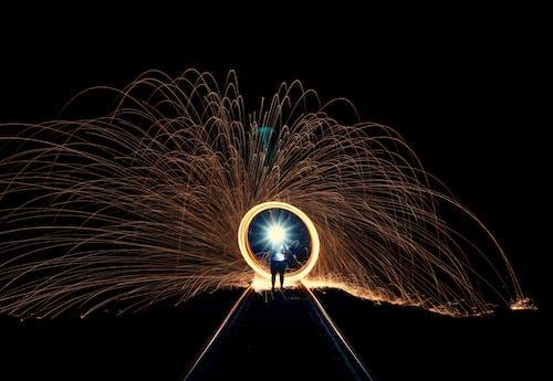Immagine gratuita di attraente, contrasto, ferrovia, fiamma