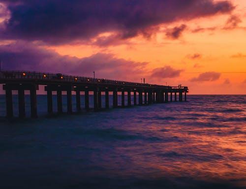 คลังภาพถ่ายฟรี ของ การท่องเที่ยว, การสะท้อน, ชายหาด, ซิลูเอตต์