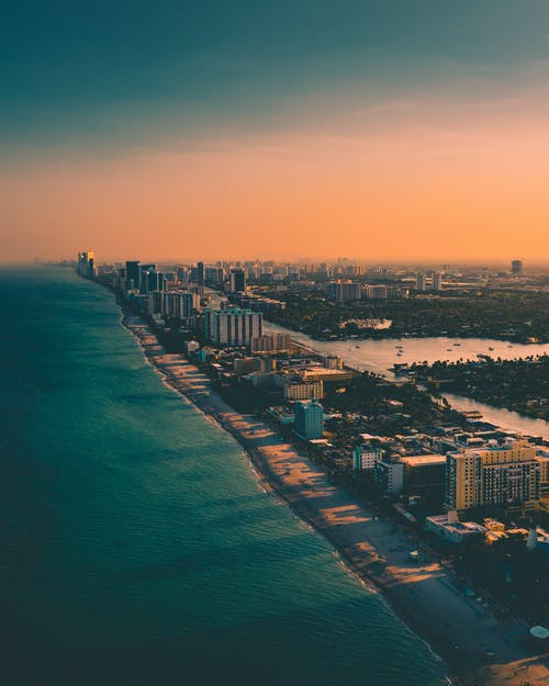 Aerial Shot Of City Buildings