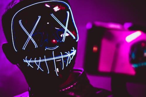 Free stock photo of gimbal, glow, mask, selfie