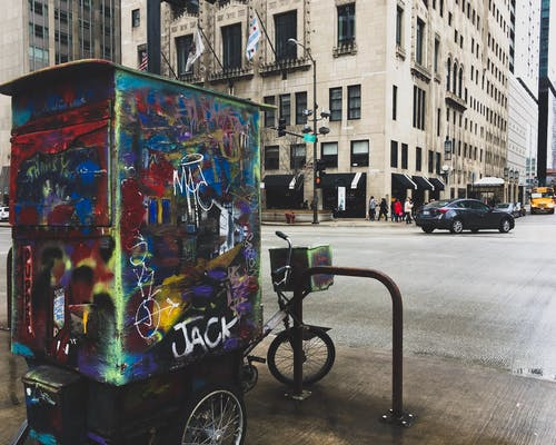 Free stock photo of chicago, city, graffiti