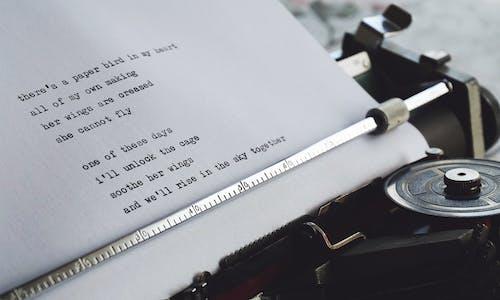 Gratis stockfoto met auteur, dichtkunst, gedicht, geschreven stuk