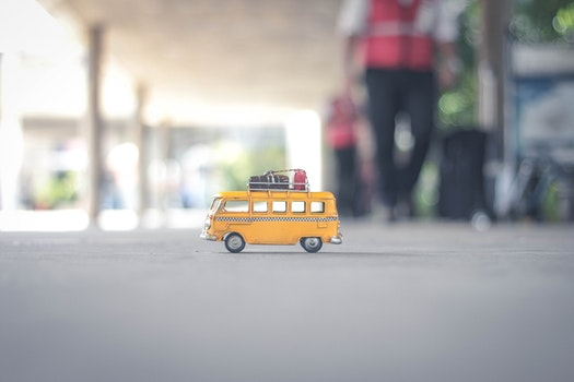 Free stock photo of blur, figure, toy, van