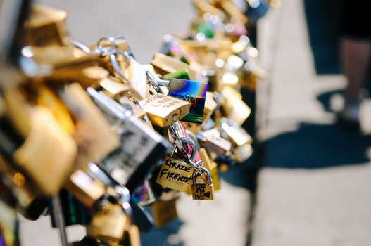 Free stock photo of love, romantic, relationship, locks