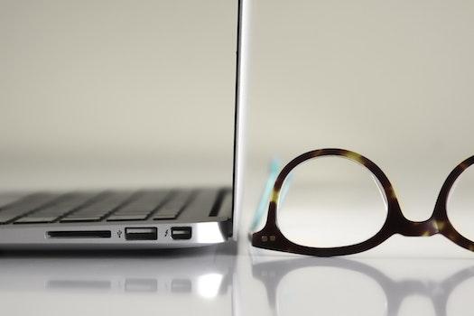 Free stock photo of apple, desk, laptop, macbook