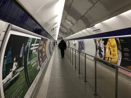 Free stock photo of corridor, london underground, tube