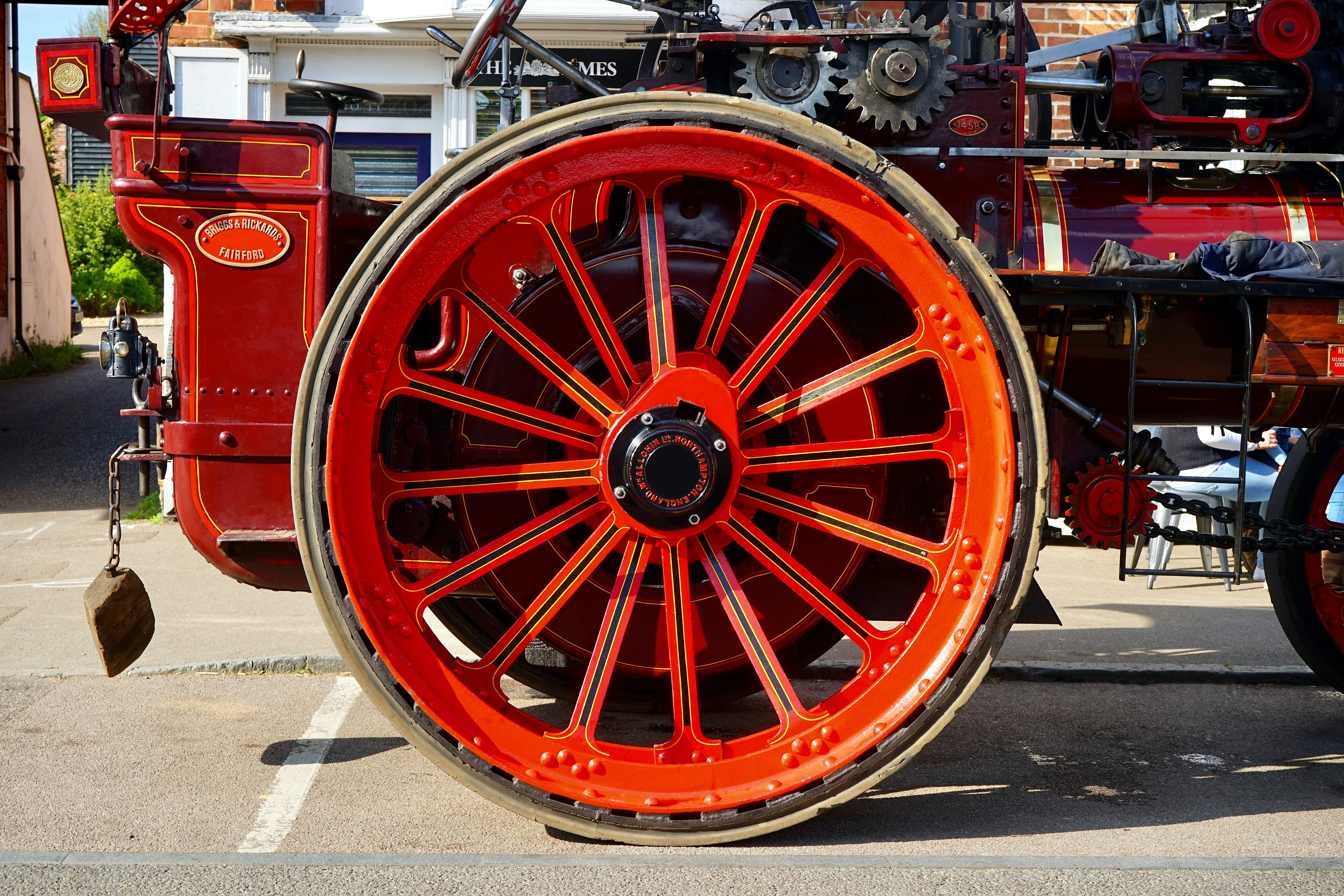 Red Metal Carriage Wheel