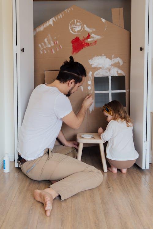 Fotobanka sbezplatnými fotkami na tému bábätko, byť spolu, Deň otcov