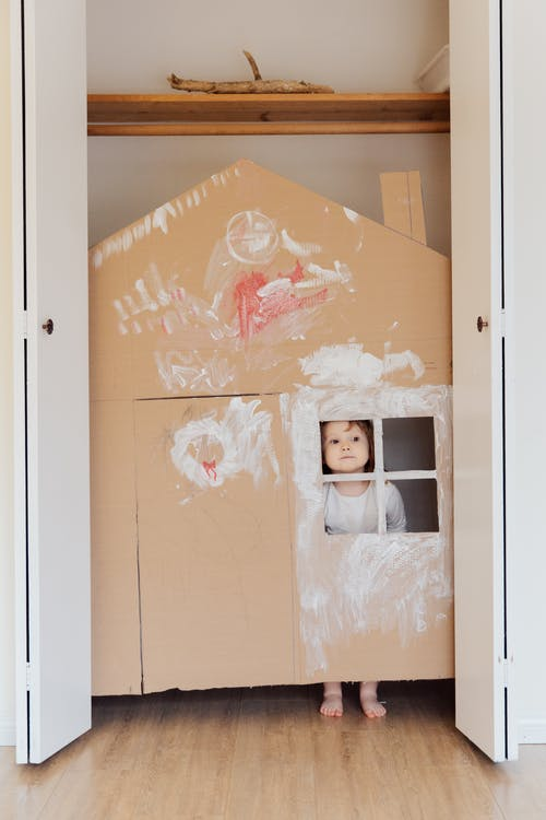 Photo Of Child Inside On Cardboard House