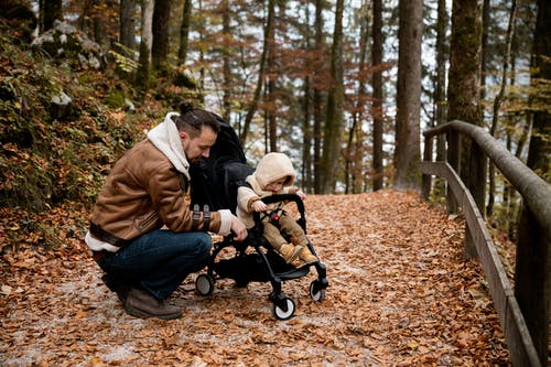 Photo Of Baby On A Stroller