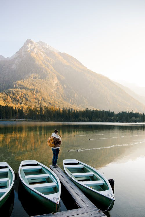 Photo Of Man Standing Beside Lake
