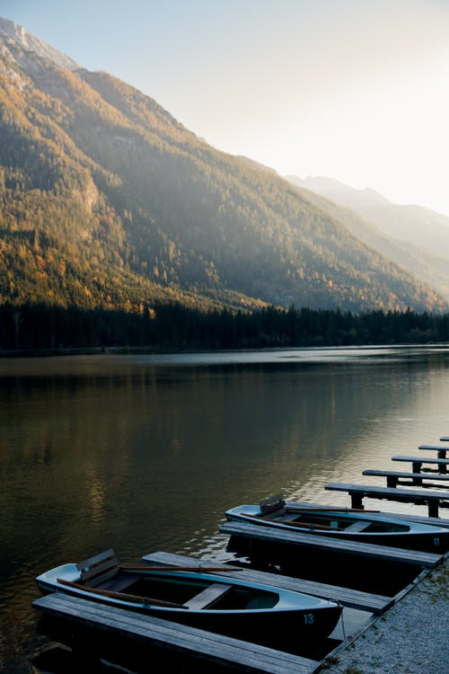Photo Of Boats Beside Lake