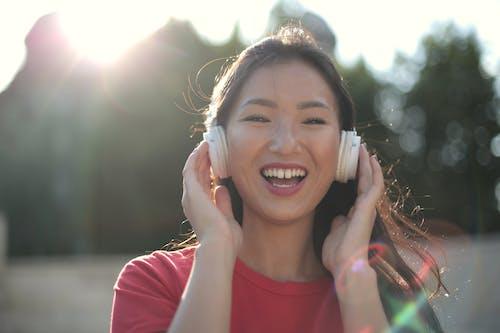 アジアの女性, スマイル, パーク, ハッピーの無料の写真素材