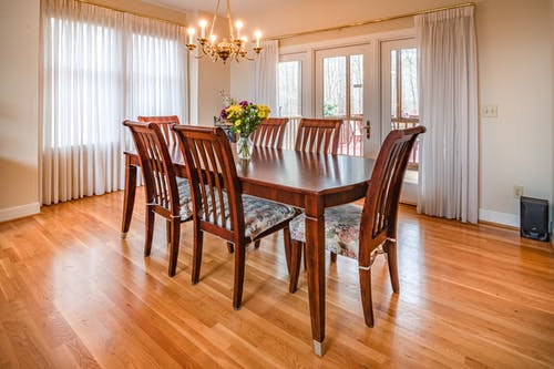 Photo Of Wooden Dining Table