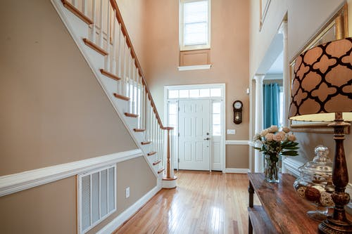 Photo Of Stair Case Facing On The Door