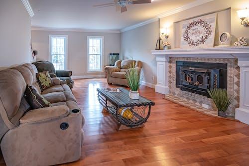 Photos gratuites de architecture, chaise, cheminée, chez-soi