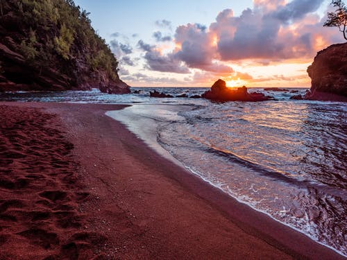 Shore During Sunset