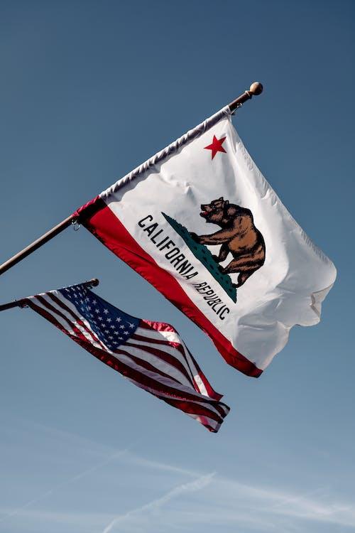 Us a Flag Under Blue Sky