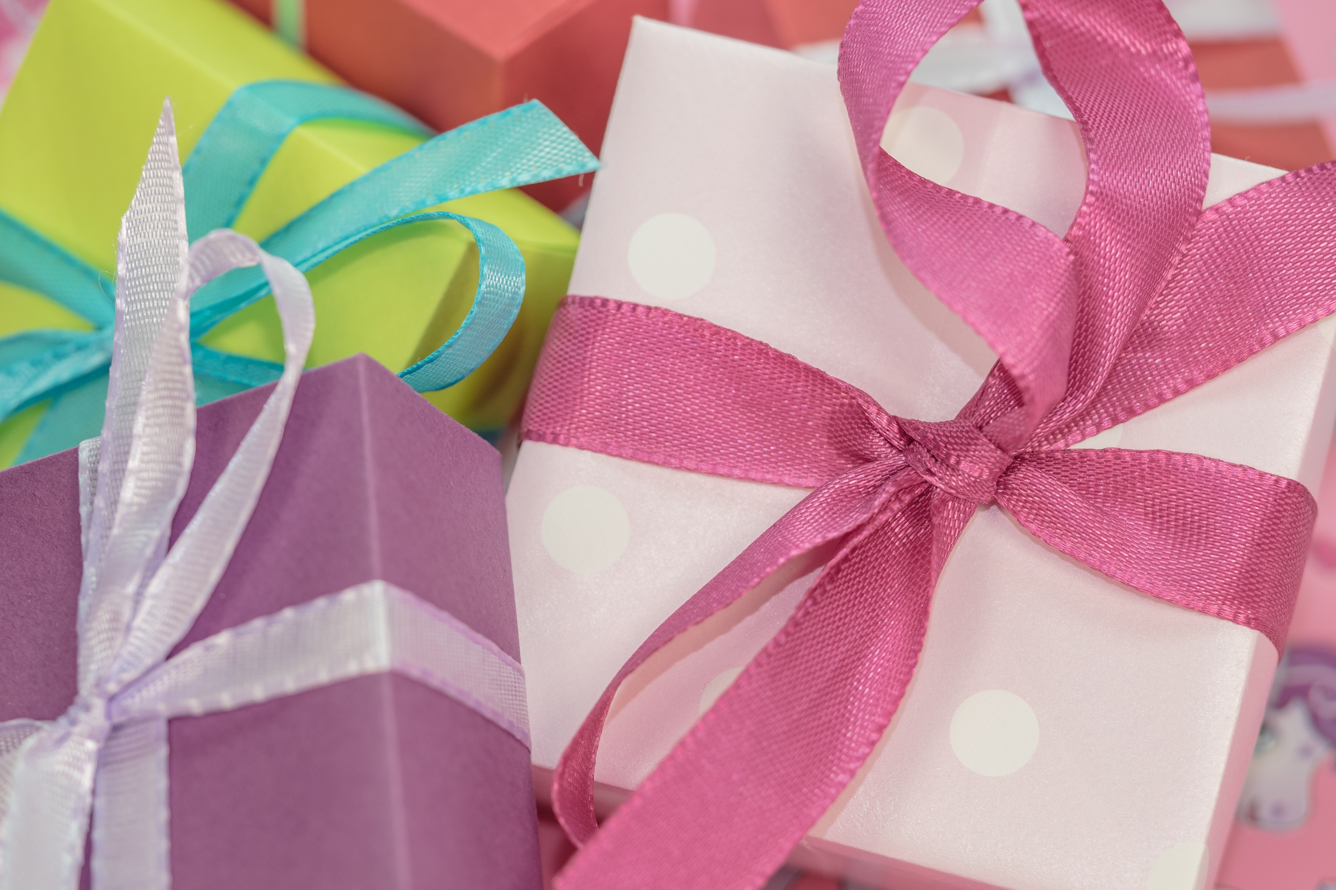Pile Of Multi Colored Gift Boxes Free Stock Photo