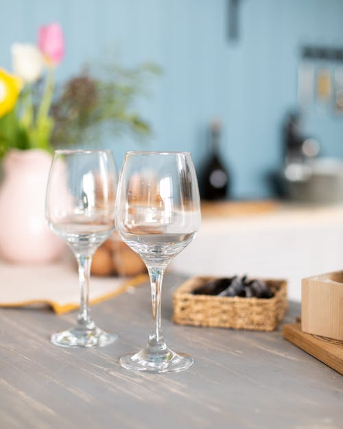 Close-Up Photo of Wine Glasses