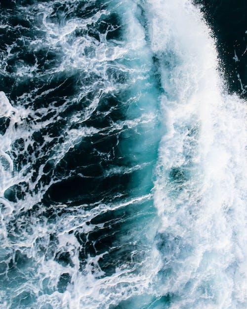 Bird's Eye View Photo of Sea Waves