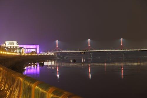 Free stock photo of bridge, building, lamp
