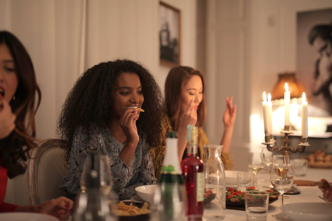 Women Having Dinner