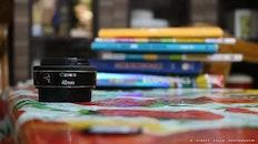 books, lens, bokeh