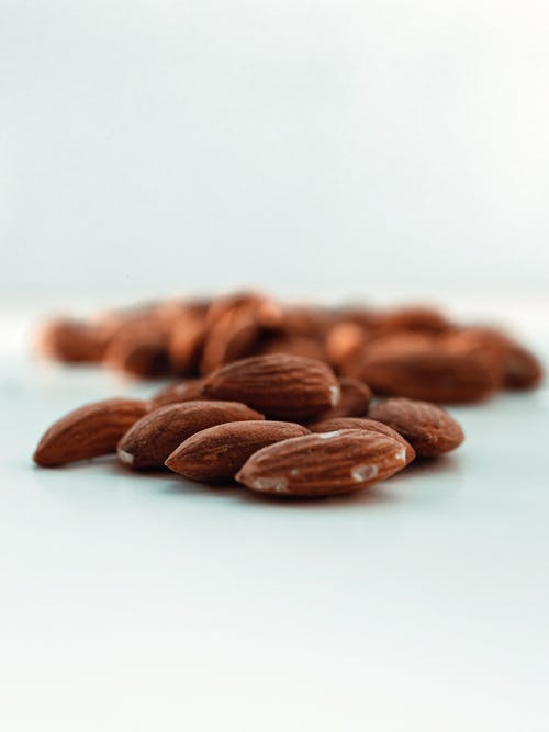 Almonds on White Surface