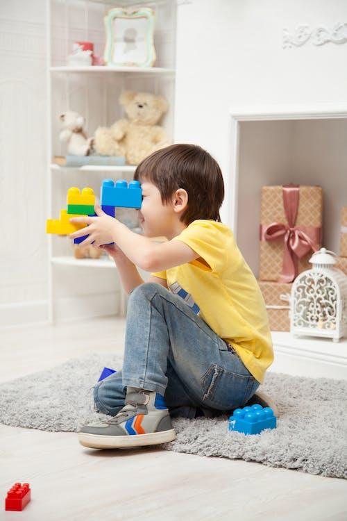 Fotos de stock gratuitas de adentro, bloques de construcción, cuarto de jugar, disfrute