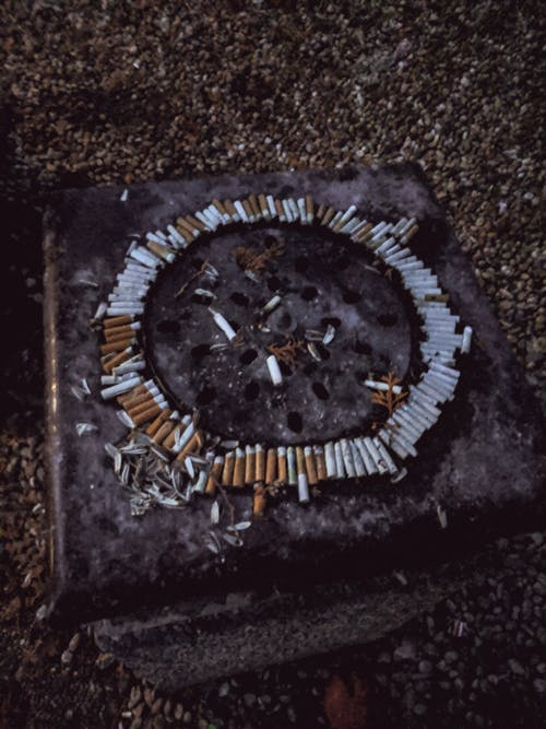 Free stock photo of abstract, bin, cigarette