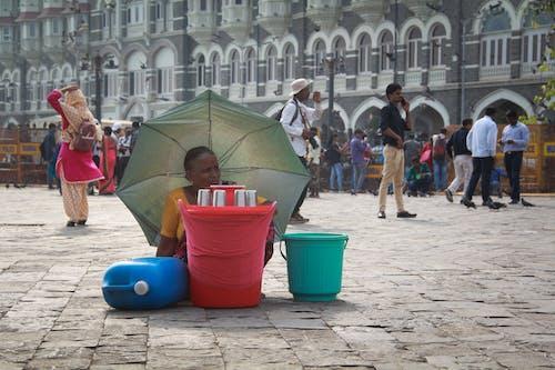 Free stock photo of blue, female, gatewayofindia, green