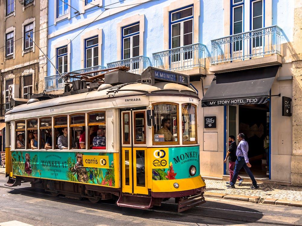 Yellow Snd White Tram